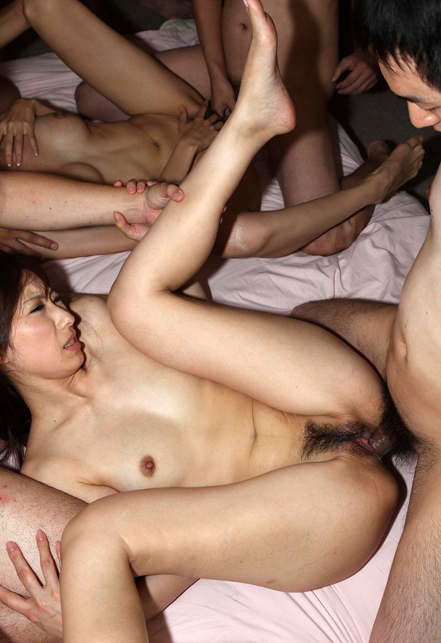 Asian gangbang uncensored